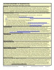 Environmental Clearances Information Summary - Colorado ...