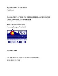 Evaluation of the FRP-Retrofitted Arches in the - Colorado ...