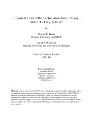 Empirical Tests of the Factor Abundance Theory - Columbia University