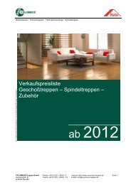 Download Preisliste Geschoßtreppen - Columbus Treppen GmbH