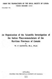 An Organization of the Scientific Investigation of the Indian Place ...