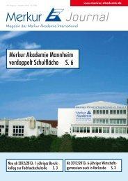 Merkur Journal 3/2011 - Comenius Ganztagsrealschule