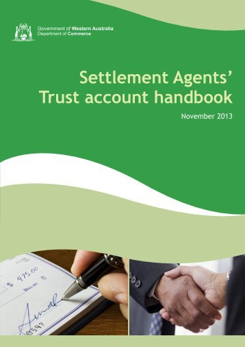Trust account handbook - Department of Commerce - wa.gov.au
