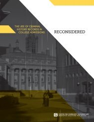 the use of criminal history records in college admissions - Center for ...