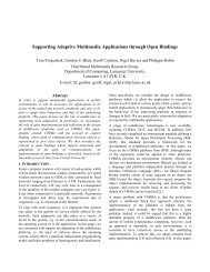 Supporting Adaptive Multimedia Applications through Open Bindings