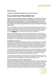 Coop mischt den iPhone-Markt auf - Comparis.ch