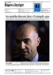 So spielte Berset den «Trumpf»aus - Comparis.ch