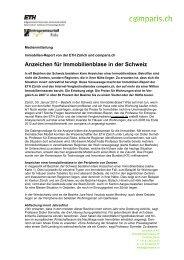 Anzeichen für Immobilienblase in der Schweiz - Comparis.ch