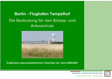 Die Bedeutung für den Biotop- und Artenschutz ... - Competitionline
