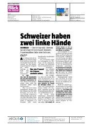 Schweizer haben zwei linke Hände - Comparis.ch