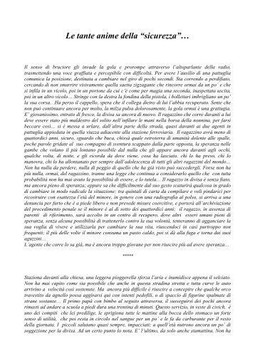 """Le tante anime della """"sicurezza""""… - Città di Torino"""