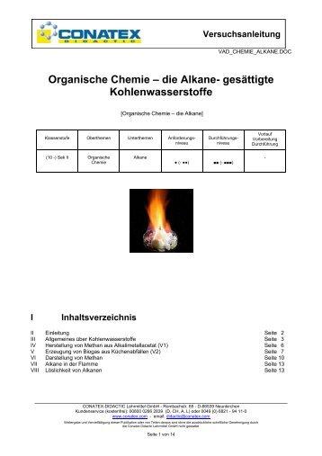 die Alkane - Conatex-Didactic Lehrmittel GmbH