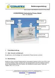 HYDROPRESS Hydraulische Presse, Modell - Conatex-Didactic ...