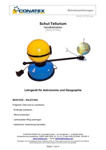 Betriebsanleitungen - Conatex-Didactic Lehrmittel GmbH