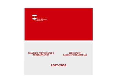 relazione al bilancio 2007 - Comune di Bolzano