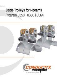 Cable Trolleys for I-beams Program 0350 - Conductix-Wampfler