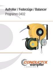 Aufroller / Federzüge / Balancer Programm 0402 - Conductix Wampfler