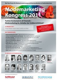 Modemarketing im - The Conference Group GmbH