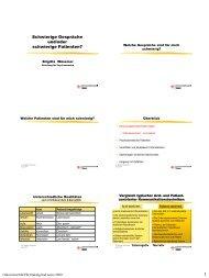 Programm des Kurses - congress-info.ch | Home