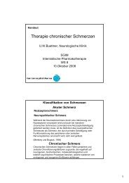 Therapie chronischer Schmerzen - congress-info.ch | Home
