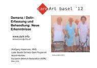 Demenz / Delir- Erfassung und Behandlung: Neue Erkenntnisse
