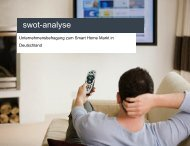 SWOT - Analyse zum Smart Home Markt - Connected Living