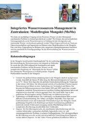 Integriertes Wasserressourcen-Management in Zentralasien ...