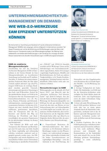 Unternehmensarchitektur-Management on Demand - Consileon ...