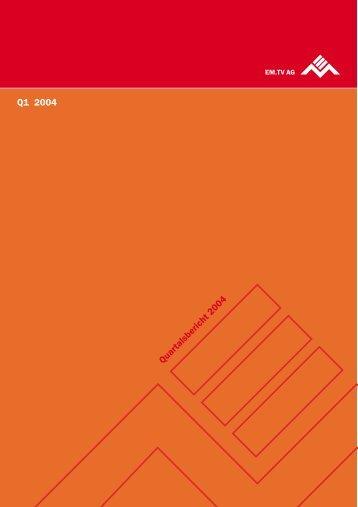 Q1 2004 - Constantin Medien AG