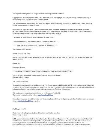 The Project Gutenberg EBook of Ausgewaehlte Schriften, by ...