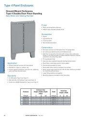 Type 4 Panel Enclosures - Cooper Industries