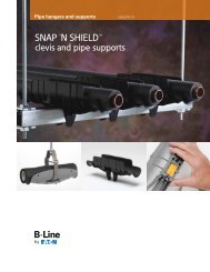 SNAP 'N SHIELD™ clevis and pipe supports - Cooper Industries