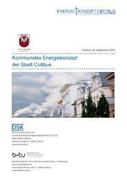 Kommunales Energiekonzept der Stadt Cottbus