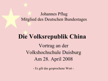 Die Volksrepublik China - sozi.info