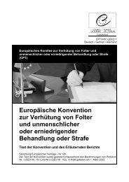 Europäische Konvention zur Verhütung von Folter und ...