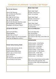 Comptines en allemand - Le corps / Der Körper - CRDP