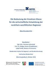 Die Bedeutung der Kreativen Klasse für die ... - Creative.NRW