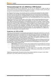 Koppelung von CRM und ERP - CRM Finder