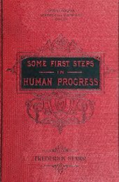 Some first steps in human progress - Cristo Raul