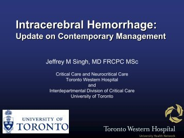CH: Contemporary Management - Critical Care Canada Forum