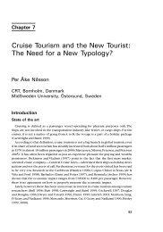 Cruise Tourism and the New Tourist - CRT - Center for Regional- og ...