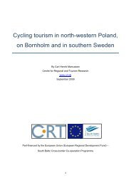 Cycling tourism in north-western Poland, on Bornholm and in ...
