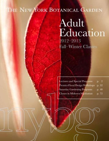 Adult Education - New York Botanical Garden