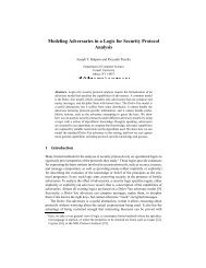 Modeling Adversaries in a Logic for Security ... - Cornell University