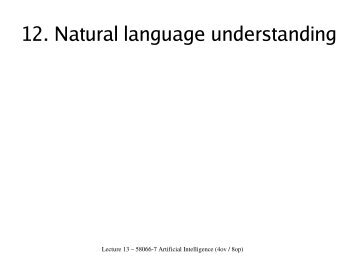 12. Natural language understanding