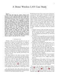 A Dense Wireless LAN Case Study