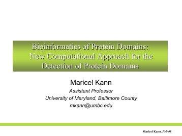 Bioinformatics of Protein Domains - Princeton University