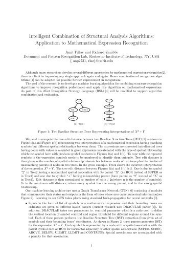 Intelligent Combination of Structural Analysis Algorithms - Rochester ...