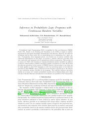 Inference in Probabilistic Logic Programs with Continuous Random ...
