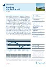 Bayerninvest Aktien Euroland-Fonds